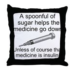 Sugar Medicine Throw Pillow