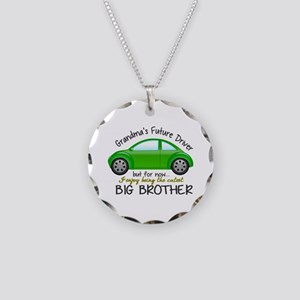 Big Brother - Car Necklace Circle Charm