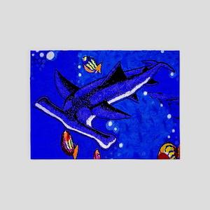 Hamerhead Shark 5'x7'Area Rug