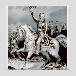 Genl. Franz Sigel at the battle of Pea-Ridge, Ark.