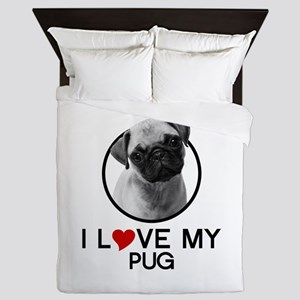I love My Pug Queen Duvet