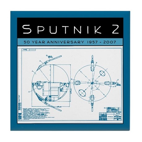 Sputnik 2 blueprints tile coaster by butwait sputnik 2 blueprints tile coaster malvernweather Choice Image