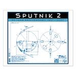 SPUTNIK 2 Blueprints Small Poster