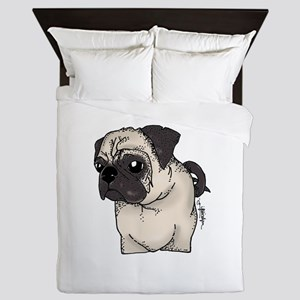 Pug - Are you looking at me? Queen Duvet