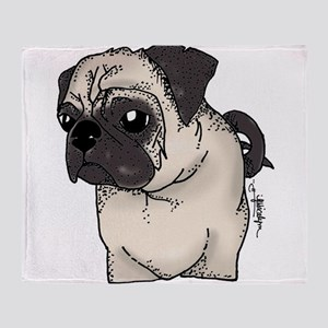 Pug - Are you looking at me? Throw Blanket