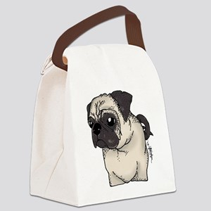 Pug - Are you looking at me? Canvas Lunch Bag