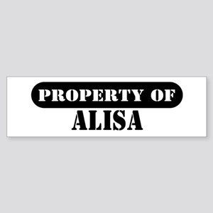 Property of Alisa Bumper Sticker