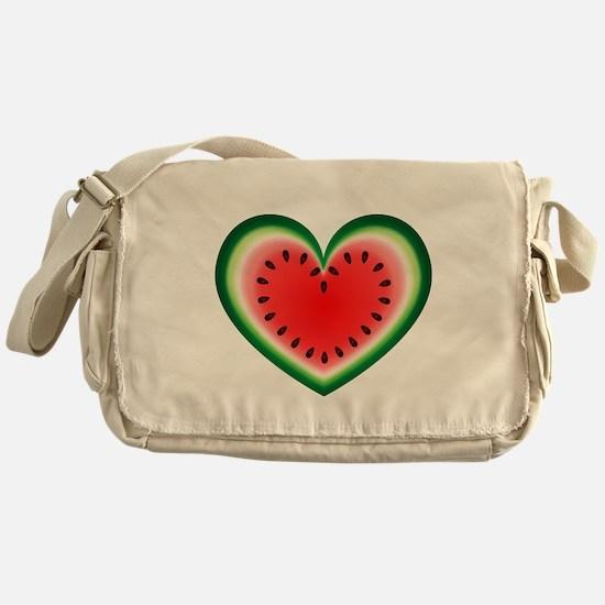 Watermelon Heart Messenger Bag