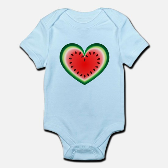 Watermelon Heart Body Suit