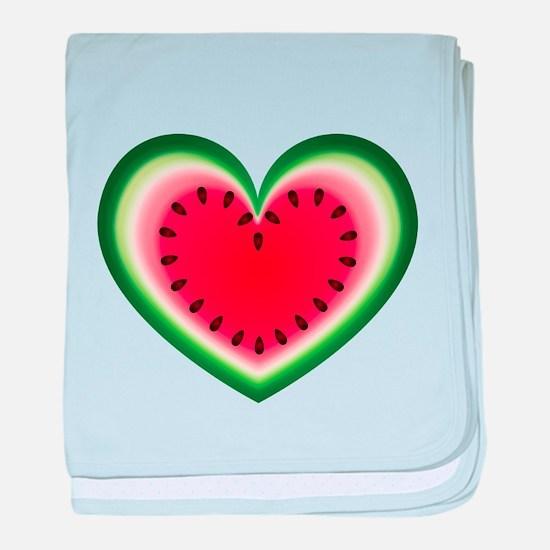 Watermelon Heart baby blanket