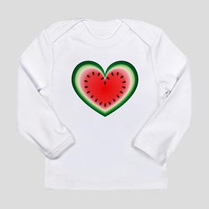 Watermelon Heart Long Sleeve T-Shirt