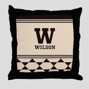 Simple Clean Elegant Monogram Throw Pillow