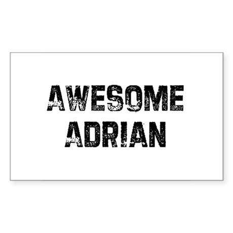 Awesome Adrian Rectangle Sticker