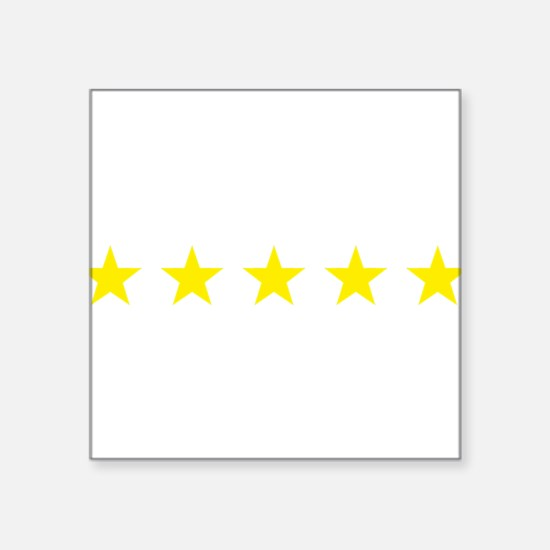five star yellow Sticker
