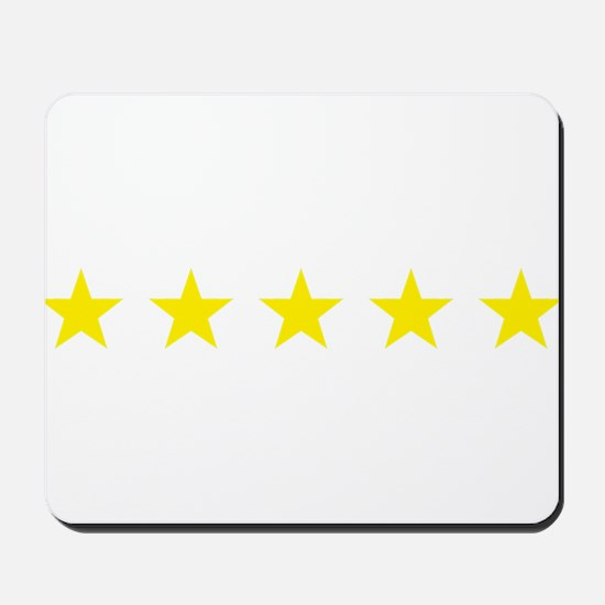 five star yellow Mousepad