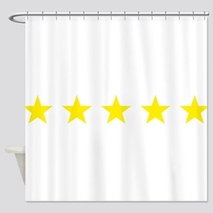 five star yellow Shower Curtain