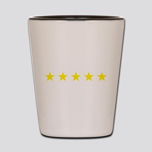 five star yellow Shot Glass