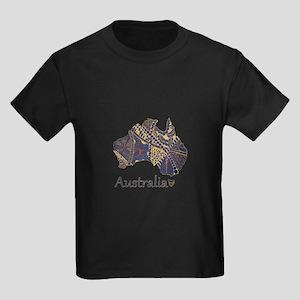 Australia Decorative Map T-Shirt