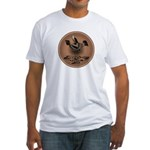 Mimbres Brn Quail Fitted T-Shirt