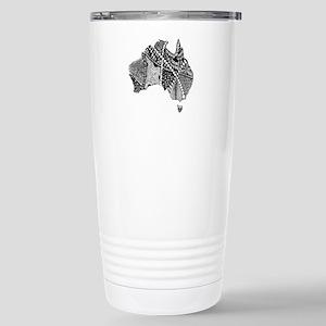 Australia Map Tangled Doodle Travel Mug