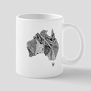 Australia Map Tangled Doodle Mug