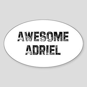 Awesome Adriel Oval Sticker