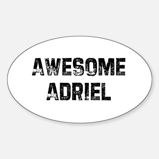 Awesome Adriel Oval Decal