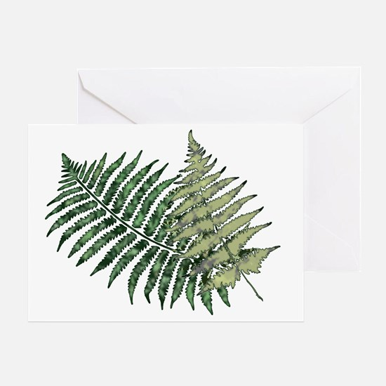 Two Lacy Ferns Greeting Card
