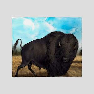 Prairie Bison Throw Blanket