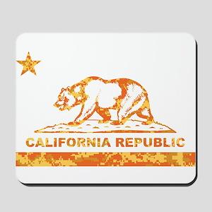 california bear camo orange Mousepad
