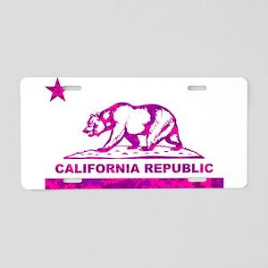 california bear camo pink Aluminum License Plate