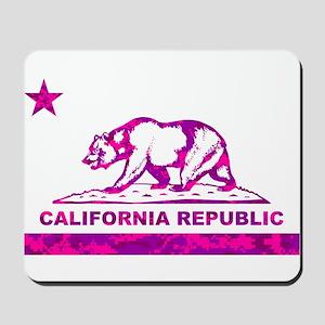 california bear camo pink Mousepad