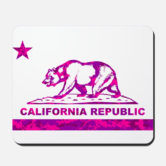 california bear camo pink Mousepad
