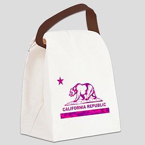 california bear camo pink Canvas Lunch Bag