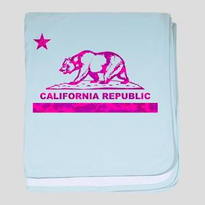 california bear camo pink baby blanket