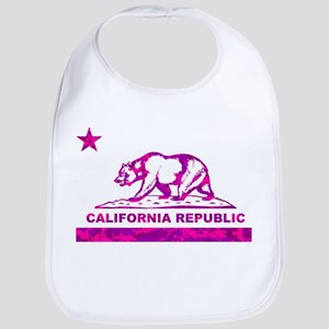 california bear camo pink Bib