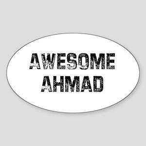 Awesome Ahmad Oval Sticker