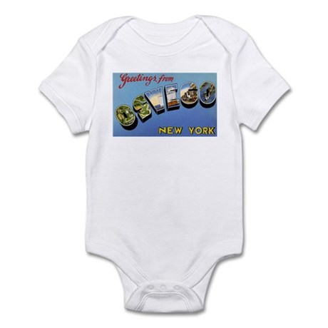 Oswego New York Greetings Infant Bodysuit