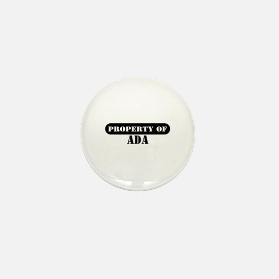 Property of Ada Mini Button