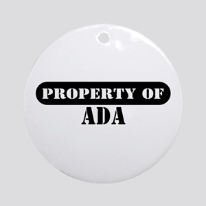 Property of Ada Ornament (Round)