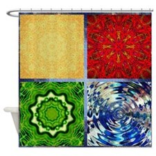 Five Elements Squared Shower Curtain
