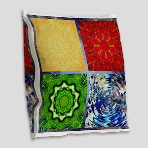 Five Elements Squared Burlap Throw Pillow