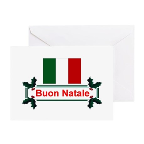 Italian Buon Natale Greeting Cards (Pk of 10)