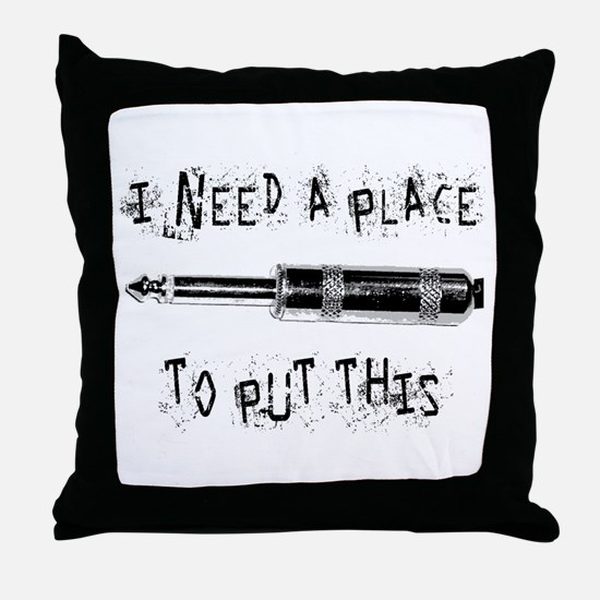 Place for this Amp Plug Throw Pillow