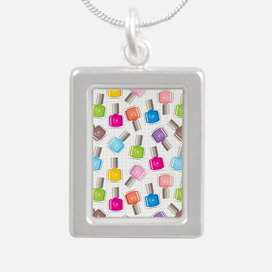 PAINT YOUR NAILS Silver Portrait Necklace