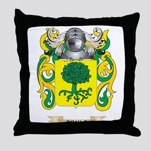 Boyle Coat of Arms Throw Pillow