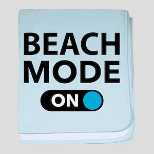 Beach Mode On baby blanket