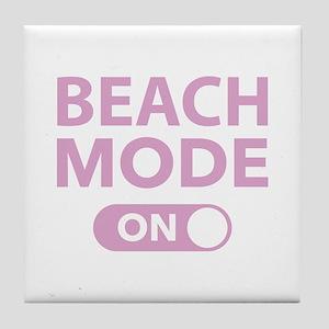 Beach Mode On Tile Coaster