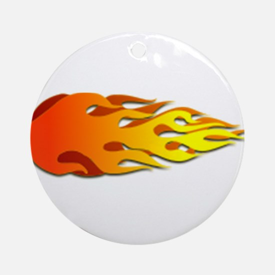 Racing Flames Ornament (Round)