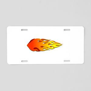 Racing Flames Aluminum License Plate